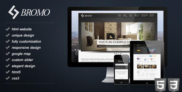 Bromo - Premium Responsive Business HTML5 Template