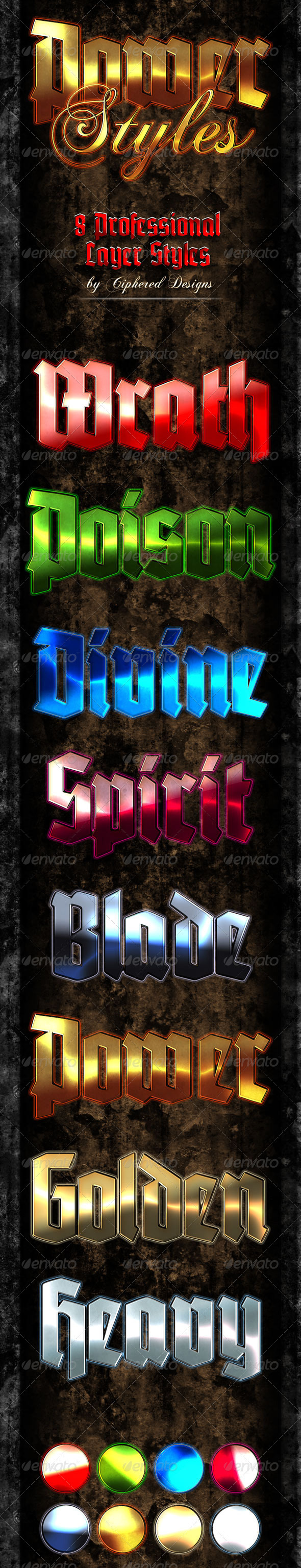 Power Styles - Text Effects Styles