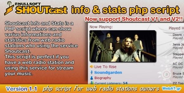CodeCanyon Shoutcast Info & Stats 2410928