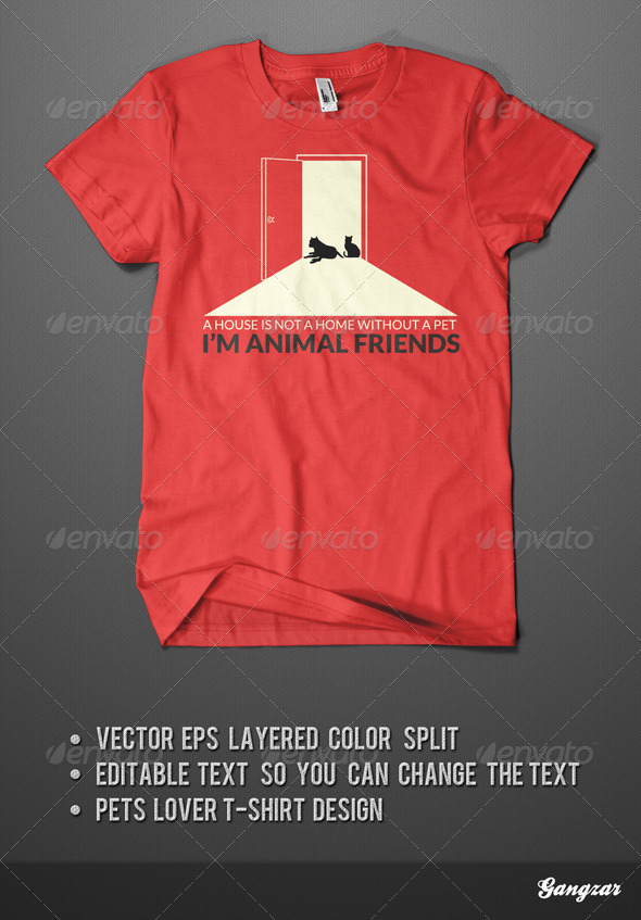 PETS FRIEND T-SHIRT - Clean Designs