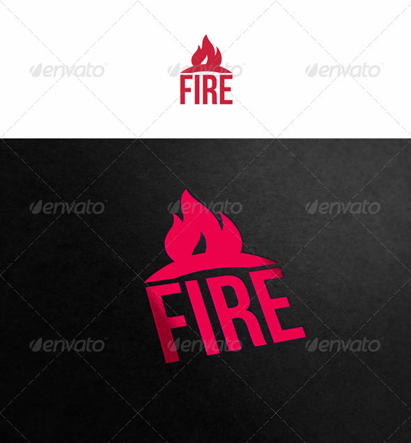 Fire Logo - Symb...K Logo In Fire