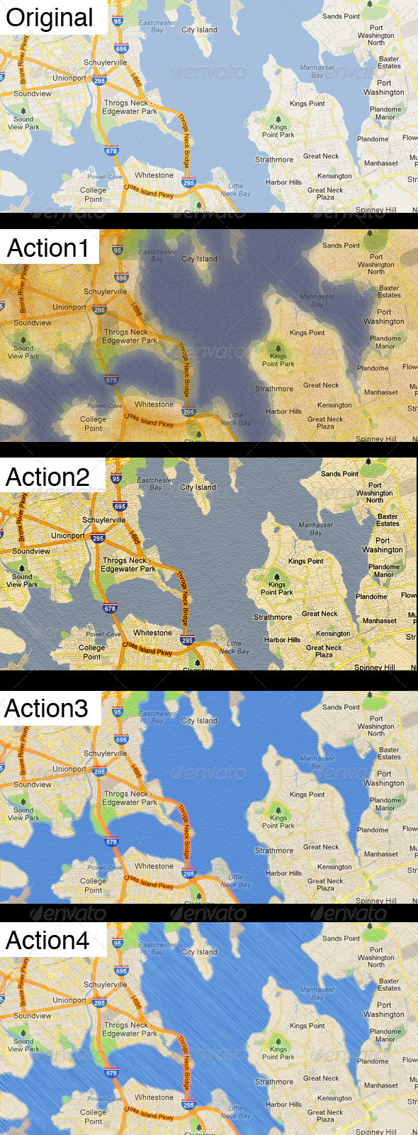 Stylized Maps Actions - Photoshop Add-ons
