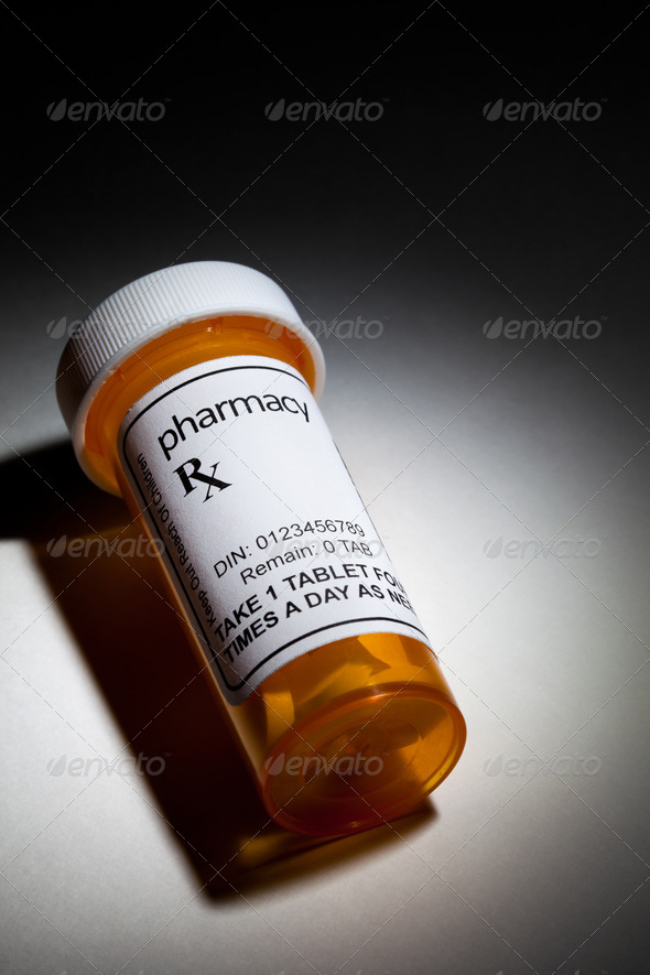 Yellow Pill Bottle - Stock Photo - Images