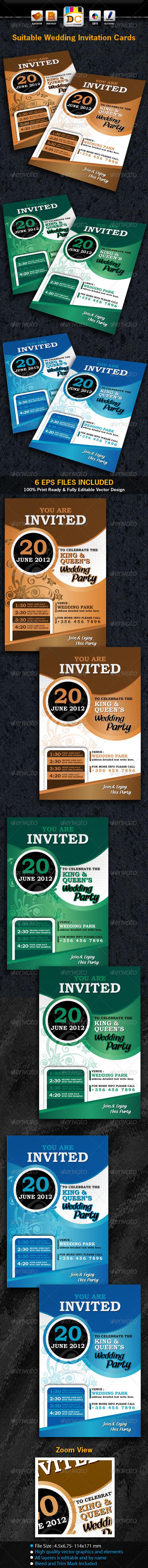GraphicRiver Suitable Wedding Marriage Invitation Card Sets 2577188