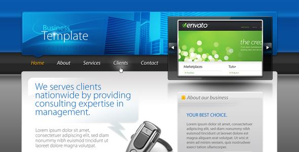 ThemeForest Business Template #01 HTML&CSS&PSD 92287
