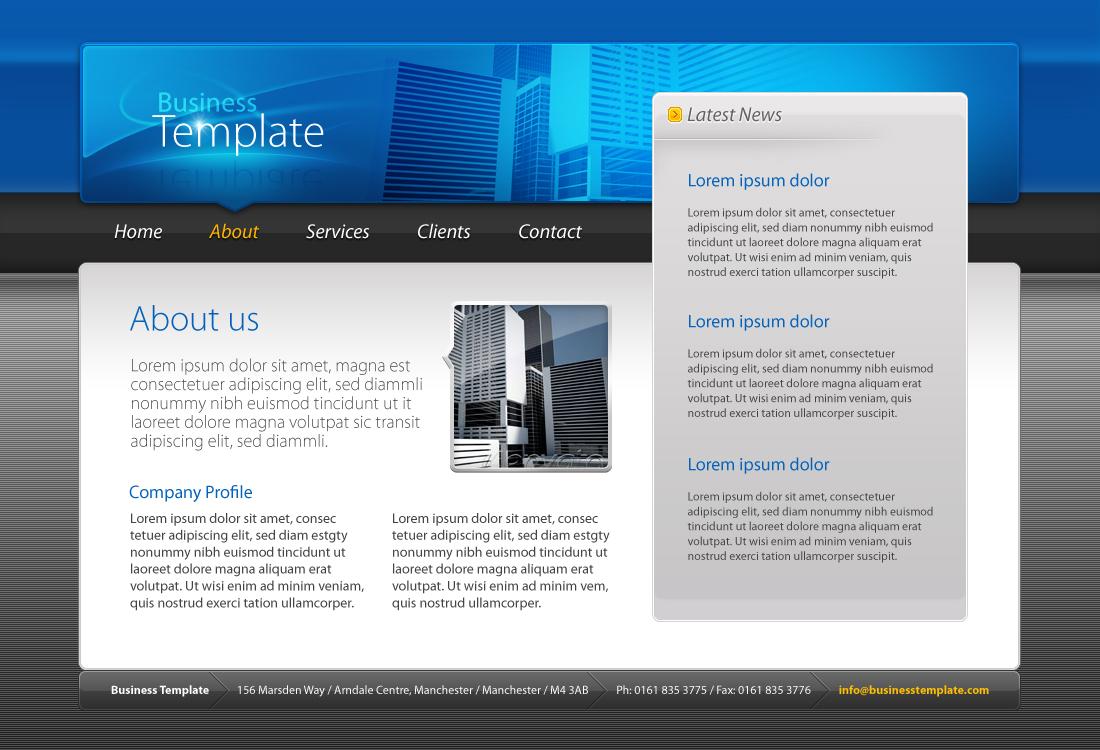Business Template #01 HTML+CSS+PSD