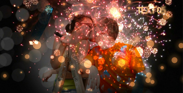 VideoHive Romantic Fireworks 2594104