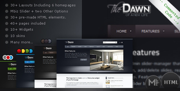 theDawn Premium All-in-one HTML Theme - Corporate Site Templates