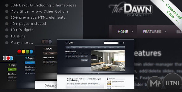 theDawn Premium All-in-one HTML Theme