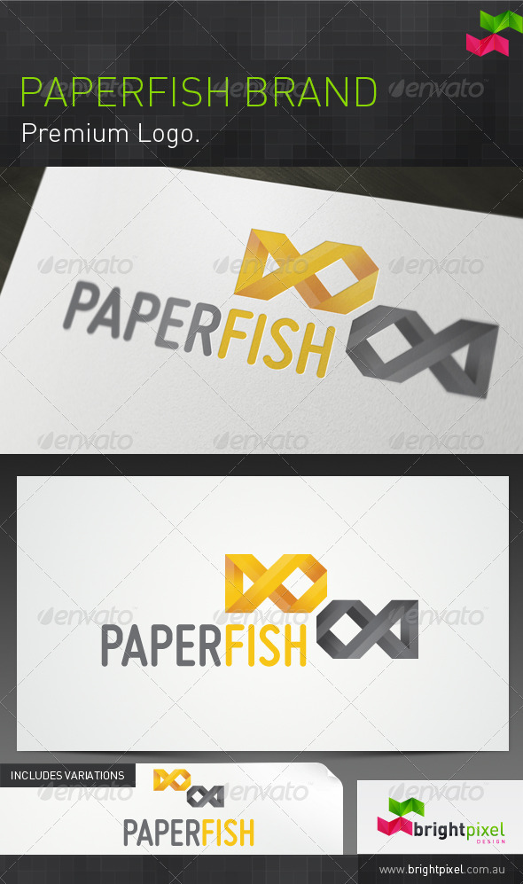 Paper Fish Brand - Animals Logo Templates