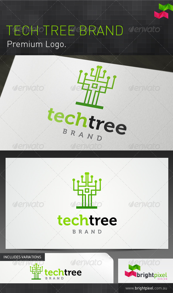 Tech Tree Brand - Nature Logo Templates