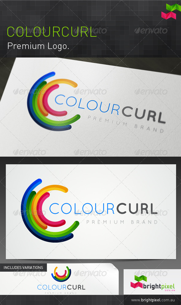Colourcurl Brand - Abstract Logo Templates