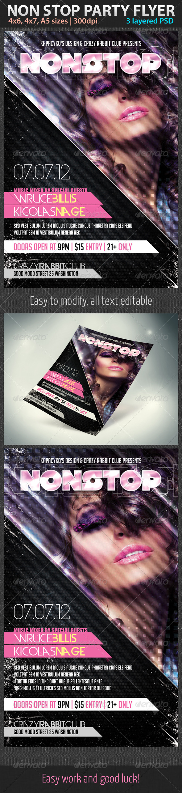 Non Stop Party Flyer - Clubs & Parties Events