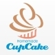Homemade Cupcake Logo - GraphicRiver Item for Sale