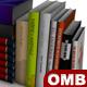 Low-poly book set