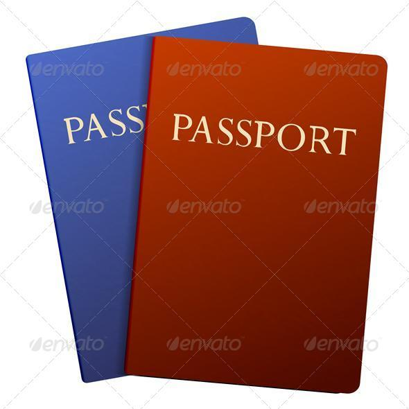 Vector passports isolated on white - Miscellaneous Vectors