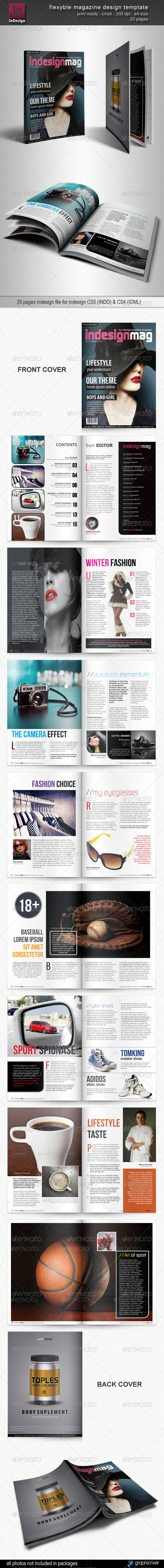 Flexyble Magazine Design - Magazines Print Templates