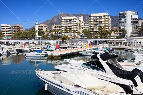 Marbella Harbour - Stock Photo - Images