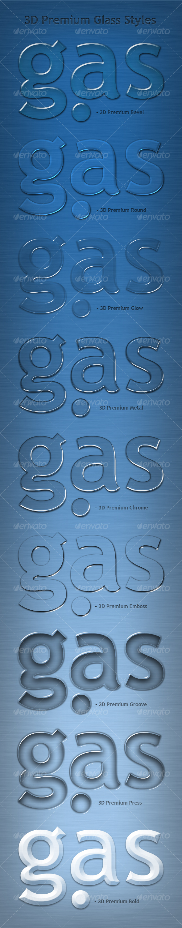 3D Premium Glass Text Effects & Styles - Text Effects Styles