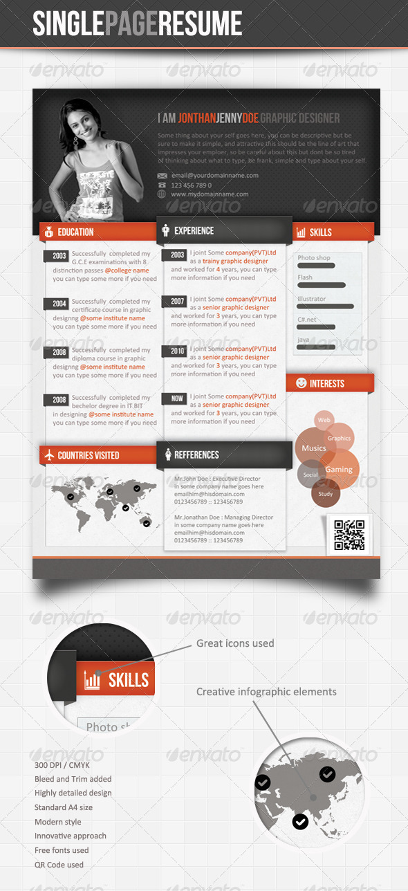 how to make resume one page
