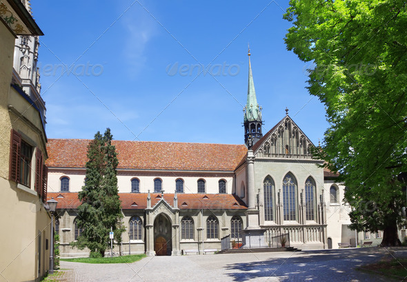 The monastic quarter in St. Galen. Europe. Switzerland. - Stock Photo - Images