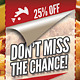 Chicken Corner | Fast Food Flyer + Coupon Version - GraphicRiver Item for Sale