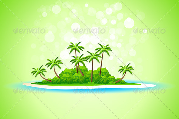 Tropical Island Background - Landscapes Nature