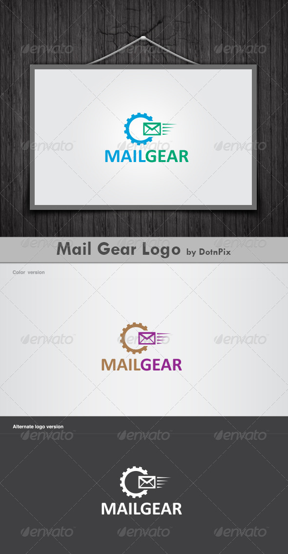 Mail Gear Logo - Vector Abstract