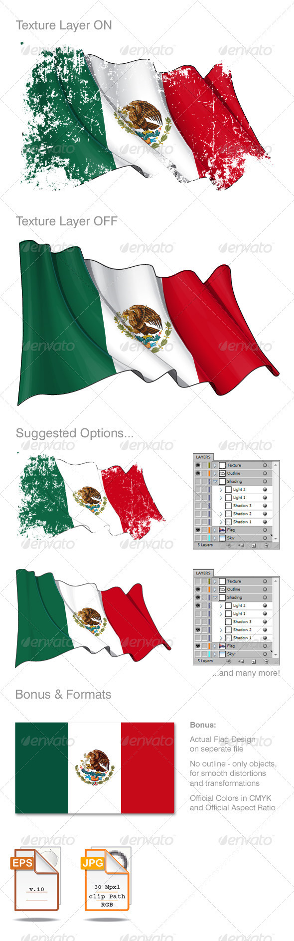Mexico Flag Grunge
