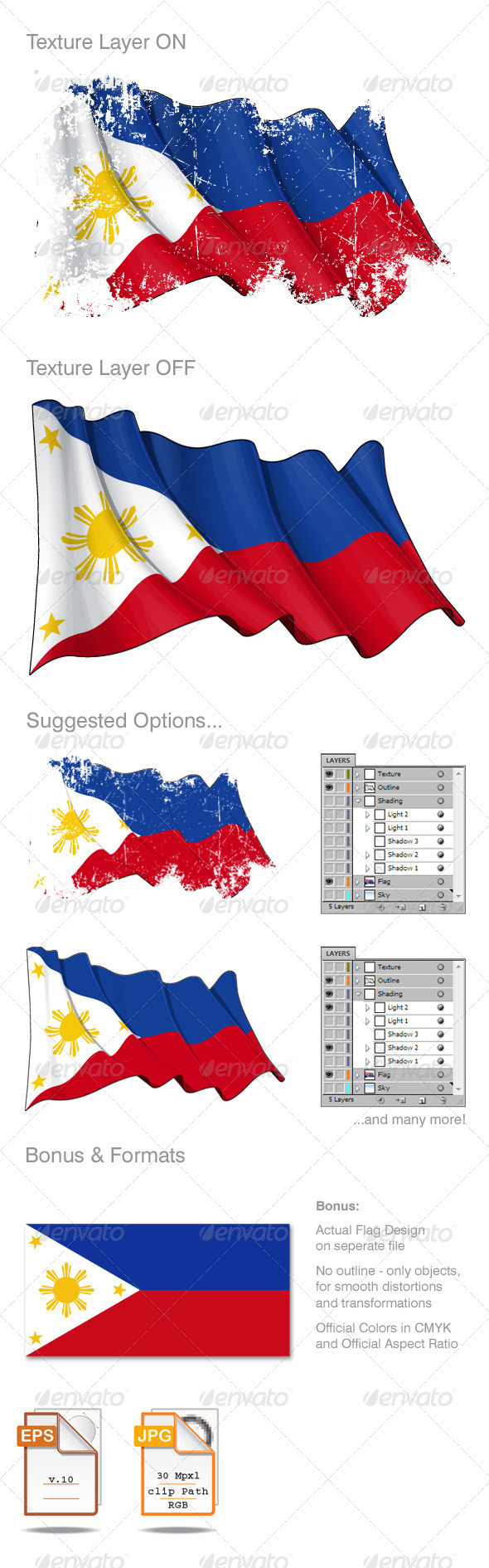 Philippines Flag Grunge