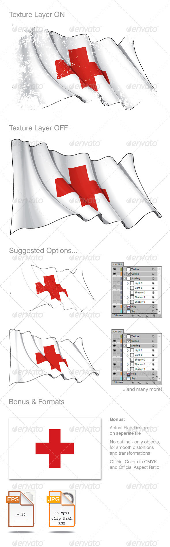 Red Cross Flag Grunge - Backgrounds Decorative