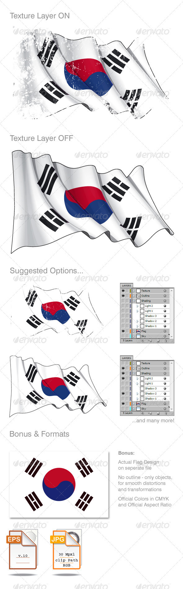 South Korea flag Grunge - Backgrounds Decorative
