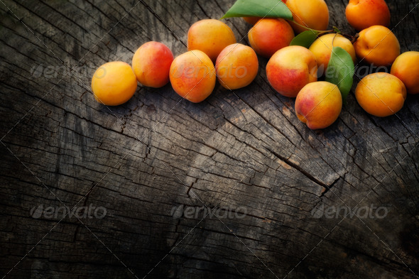 Fresh apricot background - Stock Photo - Images