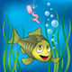 Download Vector Funny fish and scared worm