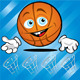 Funny smiling basket ball - GraphicRiver Item for Sale