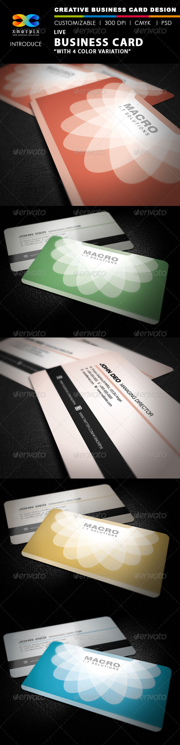 Live Business Card - Corporate Business Cards