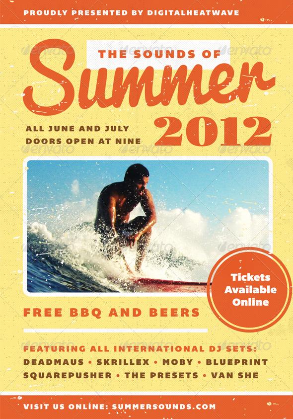 GraphicRiver Summer Sound Summer Flyer Template 2599275