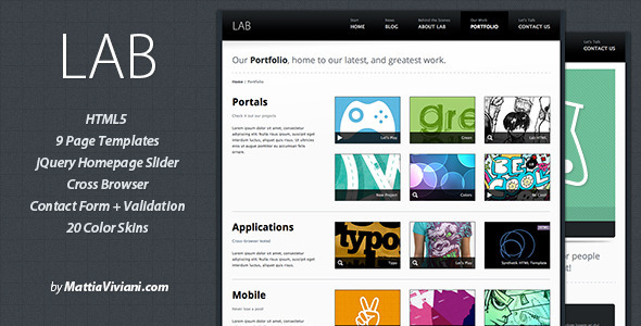 ThemeForest Lab HTML5 Template 131667