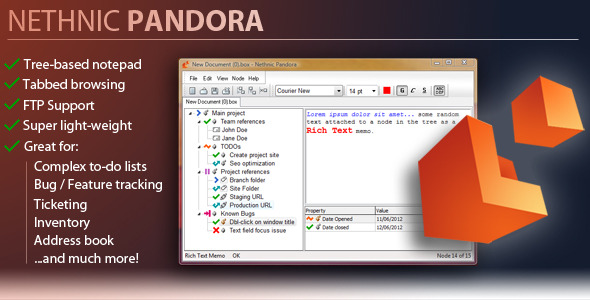 Nethnic Pandora 1.5 - Tree Based Text Editor - CodeCanyon Item for Sale