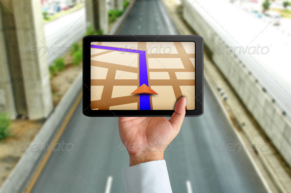 Touchpad gps - Stock Photo - Images