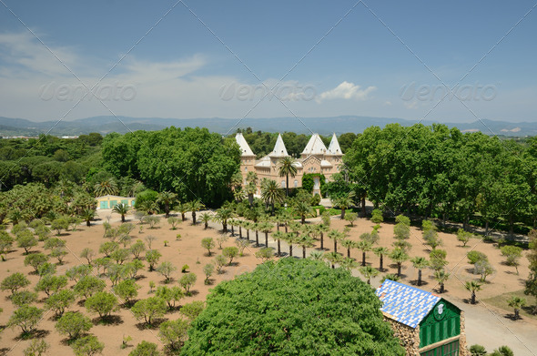 The Sama Park in Tarragona from above - Stock Photo - Images