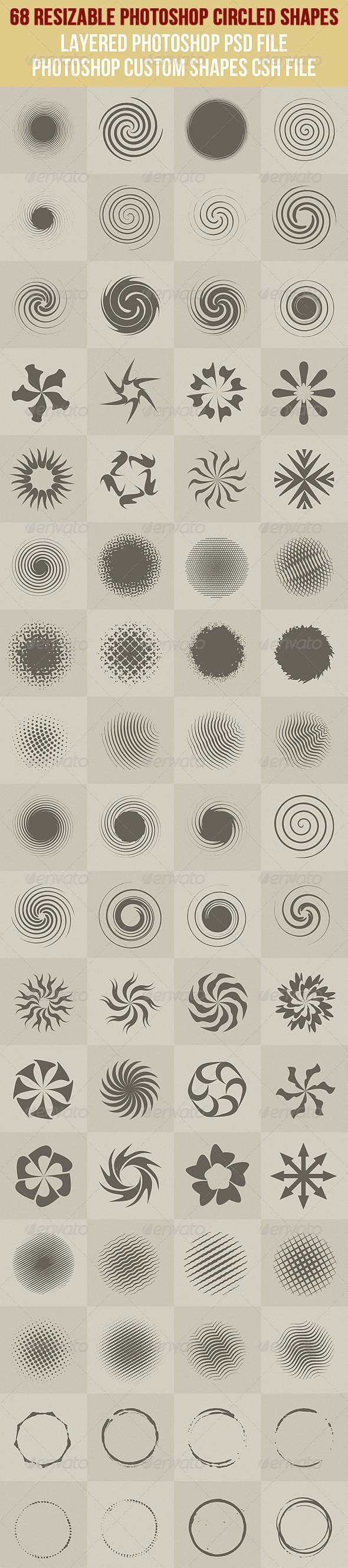 GraphicRiver 68 Photoshop Circled Shapes 1 2600079