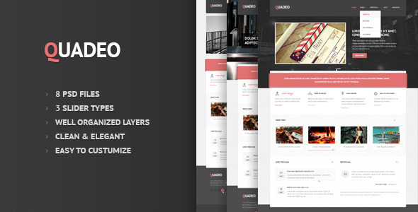 ThemeForest Quadeo-Clean PSD Template 2589874