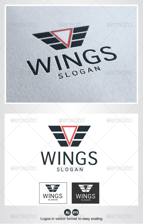 Wings Logo - Crests Logo Templates