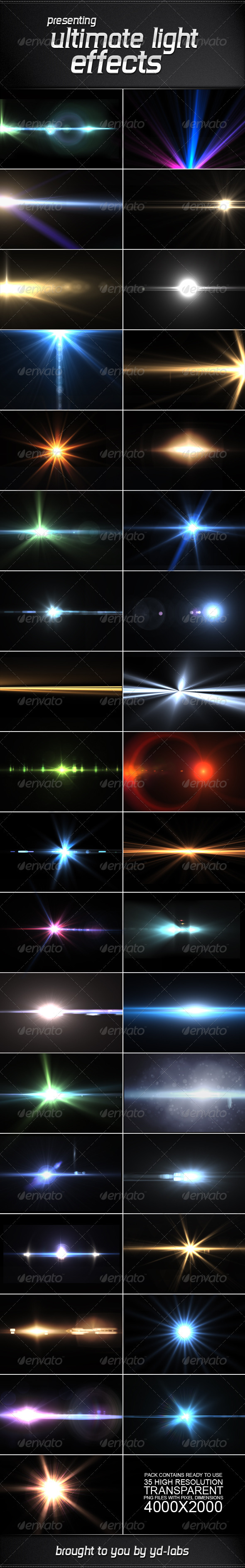 GraphicRiver 35 Ultimate Light Effects Volume 2 2600793