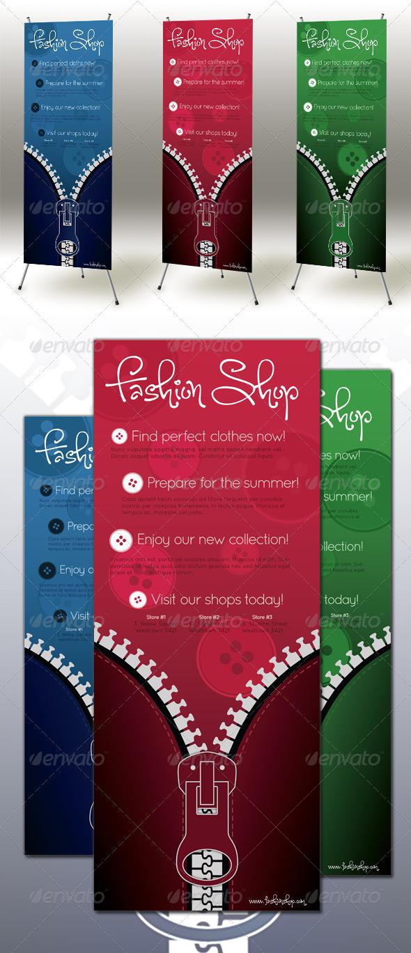 Zipper Roll-up Banner - Signage Print Templates