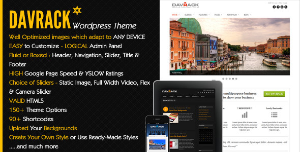 Davrack - Multipurpose Responsive Wordpress Theme