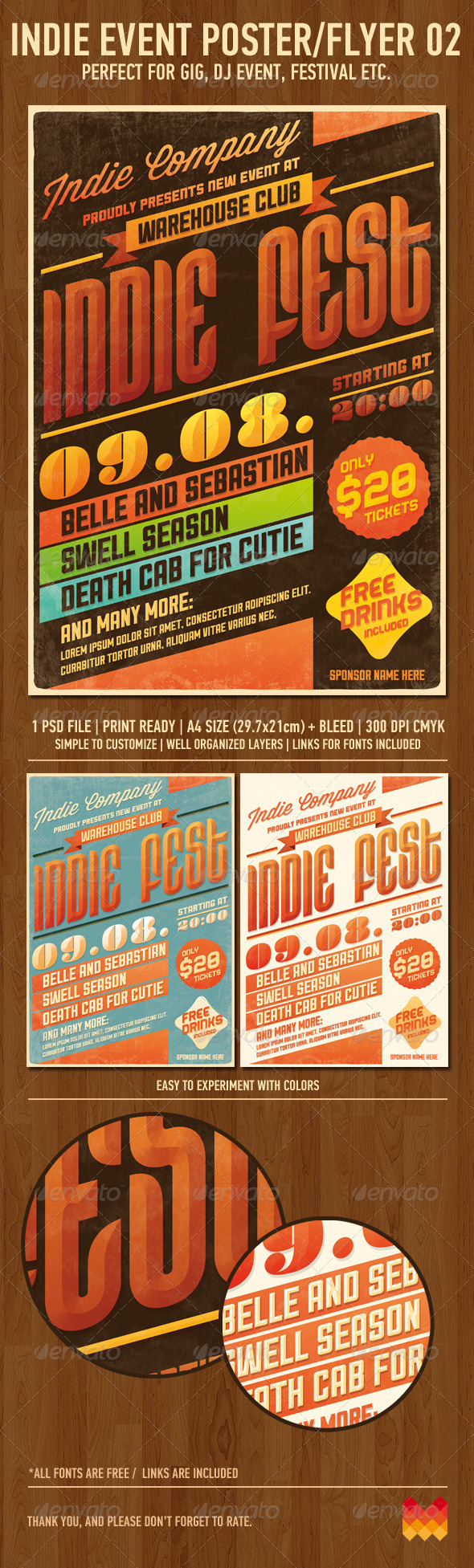 GraphicRiver Indie Event Flyer Poster No2 2600990