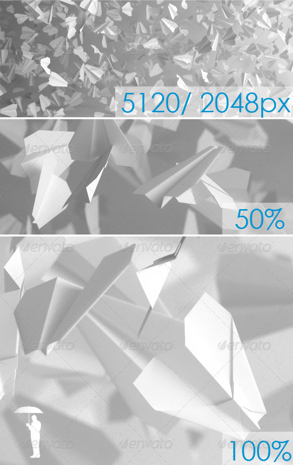 Paper Planes - 3D Backgrounds