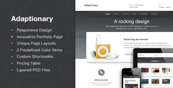 Adaptionary - Responsive HTML Template - Creative Site Templates